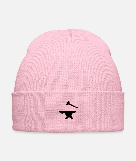 Hammer Caps & Hats - Anvil and Hammer - Knit Cap pink