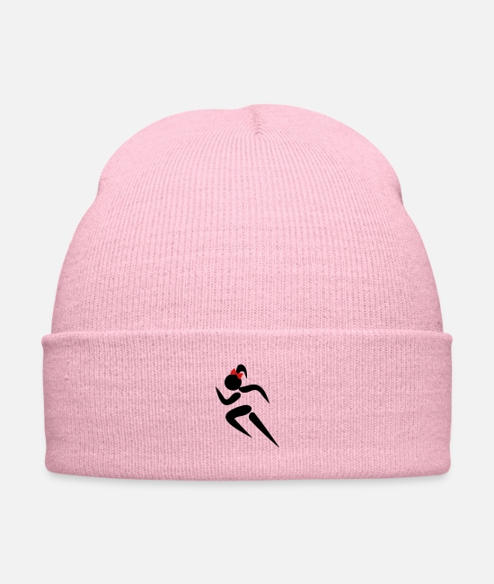 #ponytails Caps & Hats - ❤✦Sexy Female Sprinter Wearing a Pony tail✦❤ - Knit Cap pink