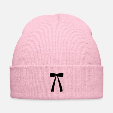Girlie ribbon black - Knit Cap