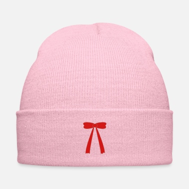 Girlie ribbon pink red - Knit Cap