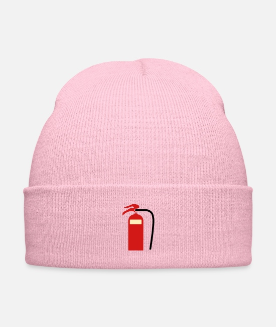 Give Caps & Hats - Fire extinguisher foam - Knit Cap pink