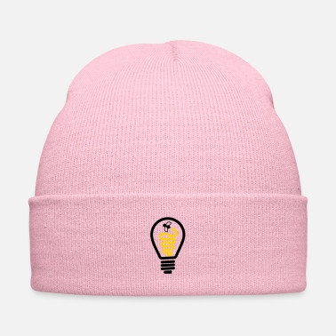 Scifi Light bulb with firefly - Knit Cap