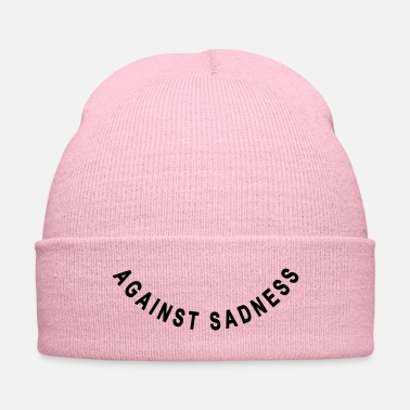 Against against sadness (smile) - Knit Cap