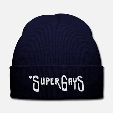 Wall Super Gays - Knit Cap with Cuff Print