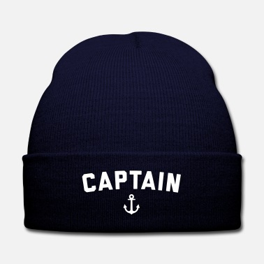 Captain Captain Nautical Quote  - Knit Cap with Cuff Print