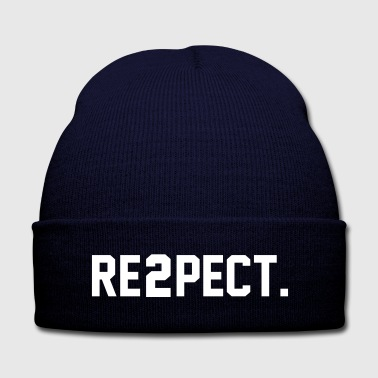 Respect RE2PECT Shirt - Knit Cap with Cuff Print