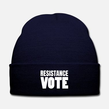 Democrat Text: Resistance Vote - Knit Cap with Cuff Print