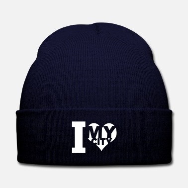 My City I love my city - Knit Cap with Cuff Print