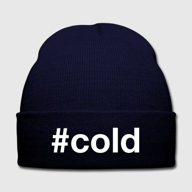 Cold COLD - Knit Cap with Cuff Print