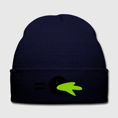I'd like to puke - Statement - Knit Cap with Cuff Print