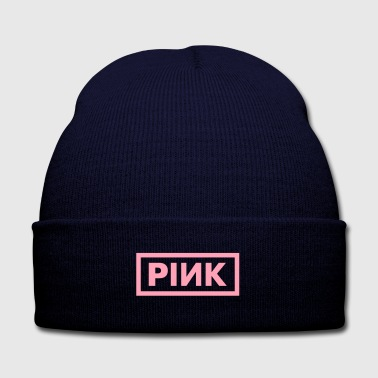 PINK - Knit Cap with Cuff Print