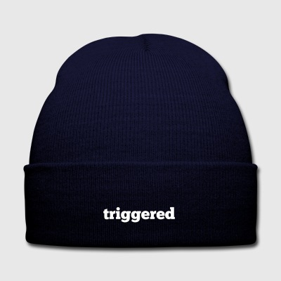 Triggered: Official logo of the Youtube Channel - Knit Cap with Cuff Print