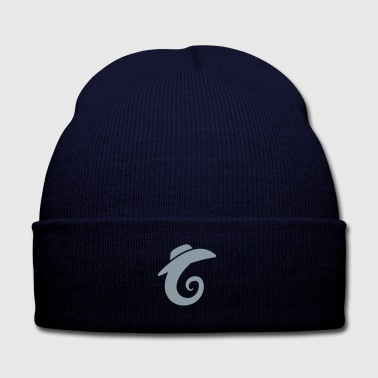 Cowboy Dave on a Seahorse Logo - Knit Cap with Cuff Print