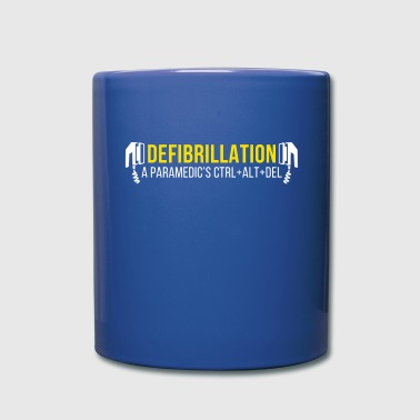 Defibrillation a Paramedic's CTRL+ALT+DEL T-shirt - Full Color Mug