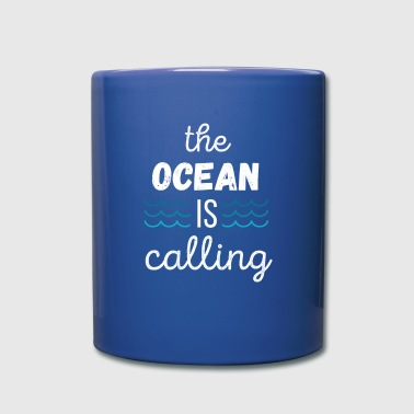 Surf Inspired The ocean is calling Surfing T-shirt - Full Color Mug