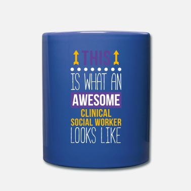 Social Awesome Clinical Social Worker Professions T Shirt - Full Color Mug