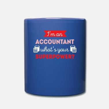 Accountant Accountant Superpower Professions T-shirt - Full Color Mug