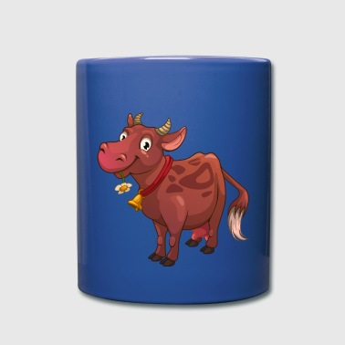 funny smiling cow - Full Color Mug