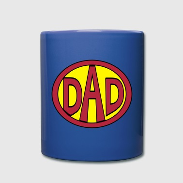 Super, Hero, Super hero, Super Dad - Full Color Mug