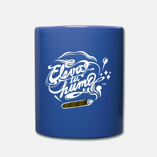 Bandera Mugs & Drinkware - Eleva tu humo! Cigarro sin bandera - Full Color Mug royal blue