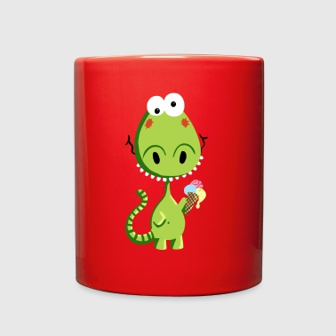 Little Dragon with ice cream - Kids - Gift - Baby - Full Color Mug