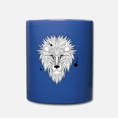 White The lion king, The angry lion great animal funny - Full Color Mug
