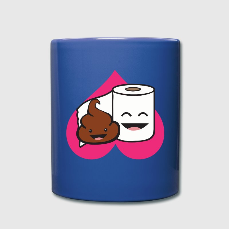 Friends Forever - Poop and Toilet Paper Roll - Full Color Mug
