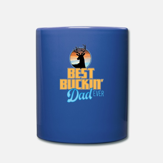 Dad Mugs & Drinkware - Best Buckin' Dad - Full Color Mug royal blue