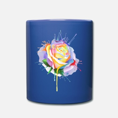Nature Collection watercolor painting rose bud - Full Color Mug