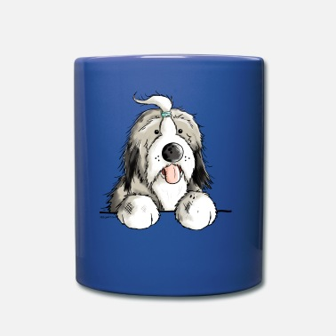 Collie Happy Bearded Collie - Dog - Comic - Gift - Fun - Full Color Mug