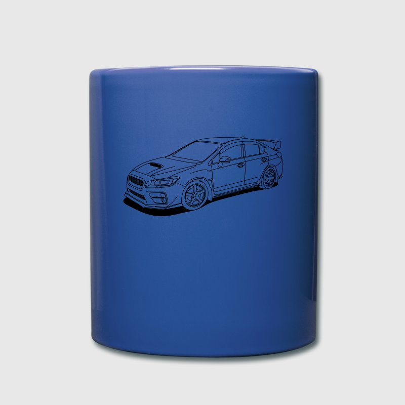 Subaru wrx sti outlines - Full Color Mug