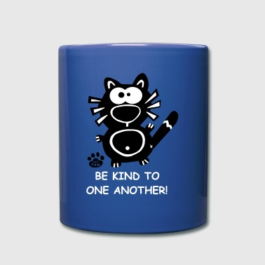 Be kind to one another cat cats catpaw design love - Full Color Mug