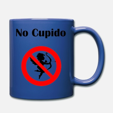 Cupido No Cupido Stay away Fun Anti-Valentine's-Day gift - Full Color Mug