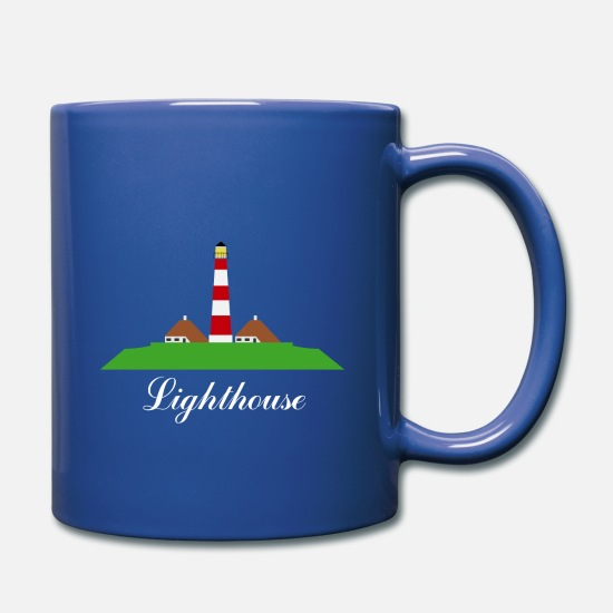 Lighthouse Mugs & Drinkware - Lighthouse - Full Color Mug royal blue