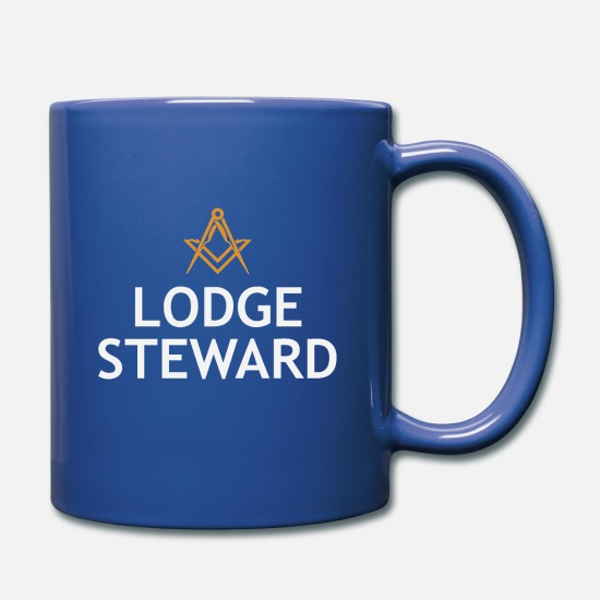 Office Mugs & Drinkware - MASONIC LODGE STEWARD COLLECTION - Full Color Mug royal blue