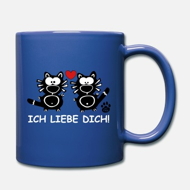 Liebe I Love You Ich Liebe Dich Cats Mama Papa Cat Gifts - Full Color Mug