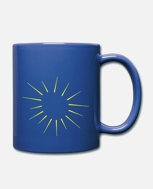 Explosion Mugs & Cups - shine | sun - Full Color Mug royal blue