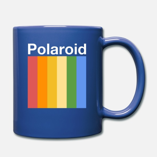 Polaroid Mugs & Drinkware - polaroid - Full Color Mug royal blue