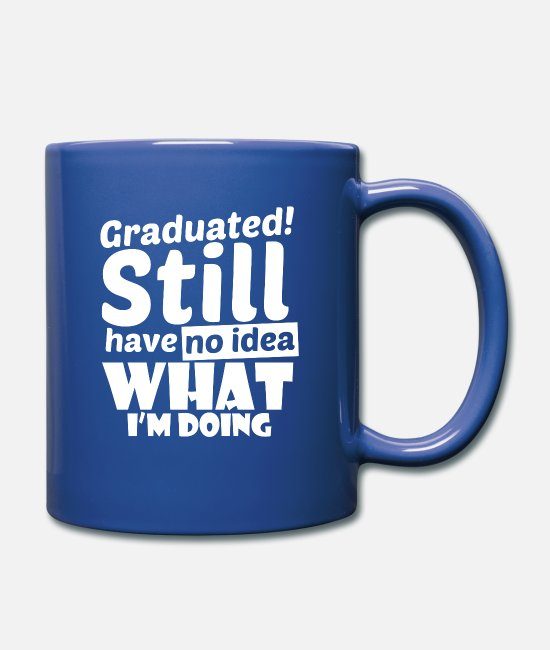 2018 Mugs & Cups - Graduation Graduated University College Highschool - Full Color Mug royal blue