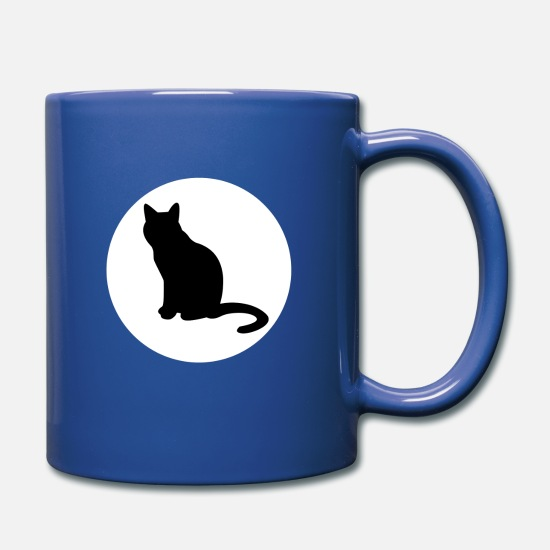 Love Mugs & Drinkware - Cat Family 14 - Full Color Mug royal blue