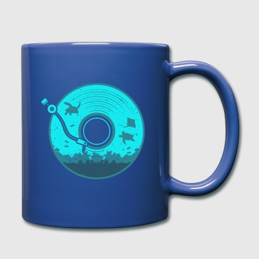 Vinyl with Under Water Scenery - Full Color Mug