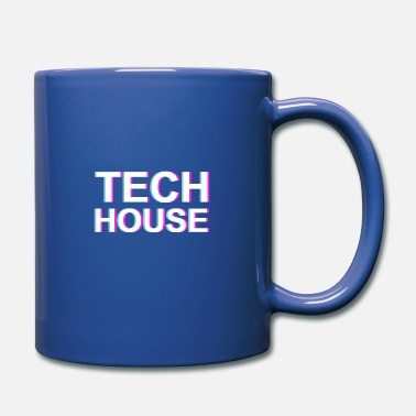 Deejay Tech House Music Vaporwave Glitch EDM Lover DJ - Full Color Mug