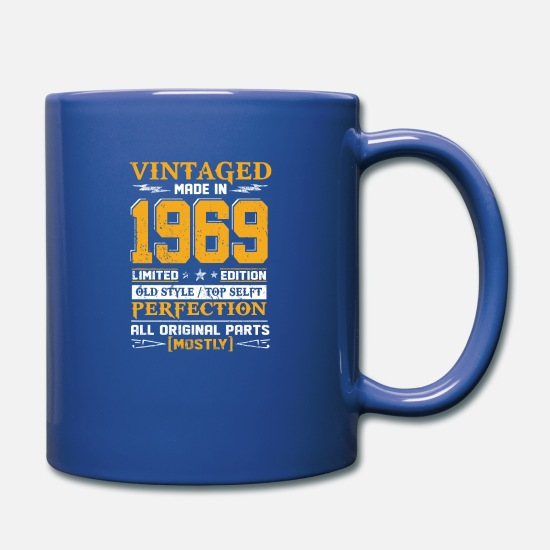 1969 Mugs & Drinkware - Vintaged Made In 1969 Limited Editon - Full Color Mug royal blue