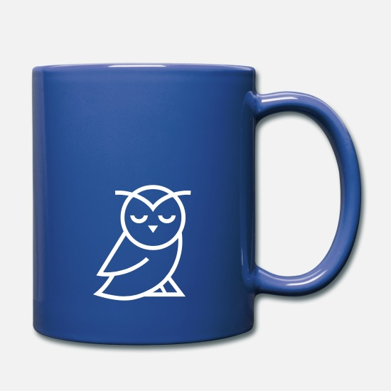 Disappointed Mugs & Drinkware - Disappointed Owl - Full Color Mug royal blue