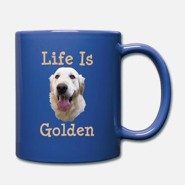 Golden Retriever Golden Retriever Gift Life is Golden Retriever Dog - Full Color Mug