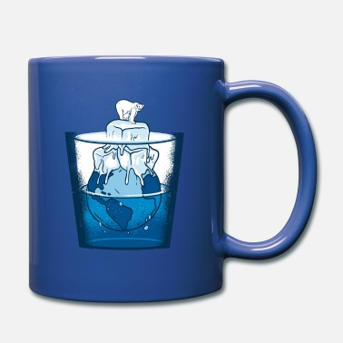 Planetcontest Polar bear in a water glass with Mother Earth - Full Color Mug