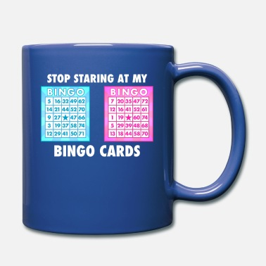 Funny Bingo Queen - Stop Staring At My Bingo Cards - Full Color Mug
