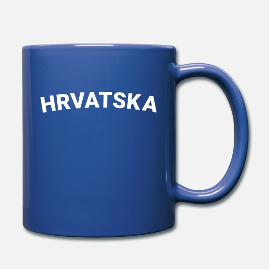 White Mugs & Drinkware - From Croatia With Love - Hrvatska Sporty white - Full Color Mug royal blue
