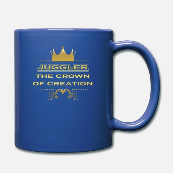 Birthday Mugs & Drinkware - CRONE KING CREATION MASTER GIFT JUGGLER - Full Color Mug royal blue