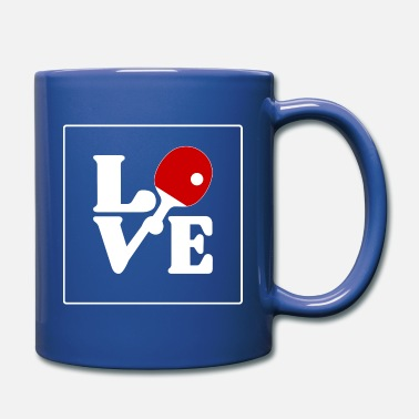Spintop I LOVE table tennis forever and ever design blade - Full Color Mug
